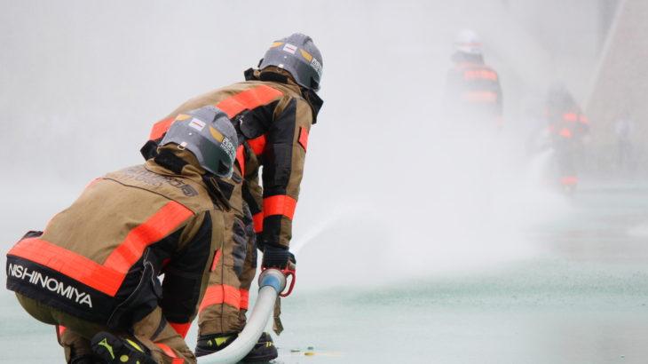 【写真ブログ】消防隊演習展示