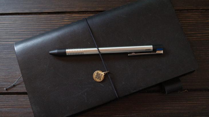 ラミー トライペン LOGO L405はトラベラーズノートの3色ペンにピッタリ